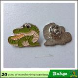 Значок металла крокодила нестандартной конструкции милый животный