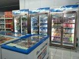 동적인 냉각 2개의 유리 문 냉장고 진열장