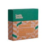 Подгоняйте поздравительную открытку &#160 подарка коробки открытки бумажной коробки Kraft логоса сусального золота упаковывая; Коробка фотоего