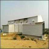 Casa de galinha Confined das aves domésticas da construção de aço com equipamento