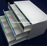 White Plastic Acrylic Contact Lenses Display Organizer with Drawers