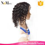 인도 깊은 파 레이스 정면 가발 주문품 사람의 모발 가발 120%/130%/150%/180%/200% 조밀도 인도 여자 머리 가발