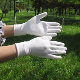 gants blancs de travail de la sûreté 13G enduits par unité centrale