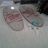 Kundenspezifisches Transparant Polycarbonat-Skateboard für im Freiensport