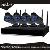 equipamento da segurança de sistemas do CCTV dos jogos de 4CH 960p WiFi P2p NVR com diodo emissor de luz azul