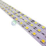 Tira rígida los 30LEDs/M 7.2W de 5050 LED que amortiguan el soporte para la iluminación