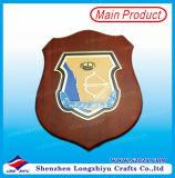 ガイアナの装飾的なプラク木メダルクラフトの木の盾のプラクの金属メダル
