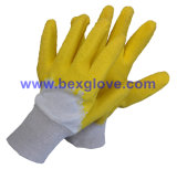 Doublure en coton interchangeable, revêtement latex, gant de finition enroulé enroulé