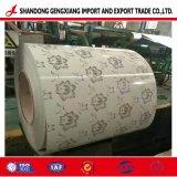 A impressão de Flores de Aço Galvanizado PPGI Anti-Finger Prepainted/BOBINA PPGL