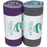 De Handdoek van de Sporten van Microfiber van de Handdoek van het bad/van de Gymnastiek/van de Reis met de Zakken van het Netwerk