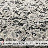 As rendas de algodão Flores de tecido de tricotar para suite vestidos (M3478-G)