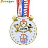 La conception de promotion de la médaille de métal avec logo couleur antique