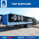 대륙간 탄도탄 차량 - 3개의 차축 방수벽을%s 가진 평상형 트레일러 콘테이너 세미트레일러