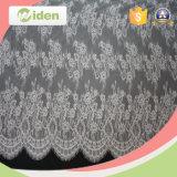 Tessuto di nylon lavorato a maglia nigeriano del merletto del ciglio del tessuto del merletto del voile
