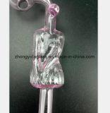 Rosafarbenes Glasrohr Filter-Tabak Glasgefäß aufbereitend