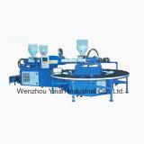 V-Block pantoufle PVC rotatif de l'air de soufflage de la machine de moulage