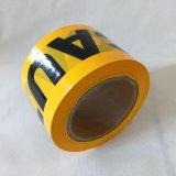 Glue/PEの注意テープのない印刷のWraning黒くおよび黄色のテープ