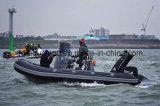 Bateau gonflable rigide gonflable de plongée de canot automobile/fibre de verre d'Aqualand 17.5feet 5.4m/bateau de pêche en eau douce (rib535b)