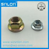 DIN6923 탄소 강철 도금되는 육 플랜지 견과 아연
