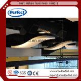 Materiales de decoración verde de deflector de techo de fibra de vidrio acústico /azulejos de techo de fibra de vidrio