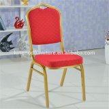 금을%s 가진 법원과 교회 사용 금속 프레임은 직물 연회 의자를 그렸다