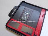Poignées personnalisées Portefeuille en cuir A4 avec calculatrice