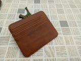 De Blokkerende Houder van de Creditcard van de Portefeuille van het Leer van de Houder van de Kaart RFID Echte Slanke Mini