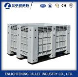 Caixa de pálete plástica elevada da capacidade 606L para o armazenamento