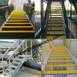 FRP лестницы с Установите противоскользящие Nosing