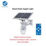 Luz solar al aire libre integrada de la pared del sensor de movimiento del jardín del LED