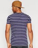 الصين مصنع بيع بالجملة [منس] زرقاء وبيضاء شريط [ت] قميص
