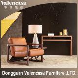Цельная древесина стул кресло для отдыха Кресло из кожи для спальни гостиной комнате Writting