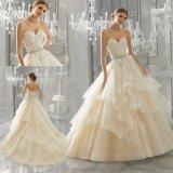 Comprimento do piso Cordão Ballgown Sweetheart Suite vestido de noiva Beca (8184)