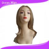 Perruque synthétique de cheveu droit de perruque de cheveu de plus long type de couleur de mélange