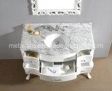 '' тщета ванной комнаты античного белого шкафа ванной комнаты твердой древесины 48 установленная