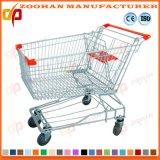 Прочная тележка вагонетки покупкы руки супермаркета металла ячеистой сети (Zht182)