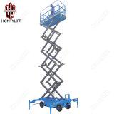 Levage fonctionnant aérien mobile Plaform de ciseaux de quatre roues