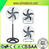 3 Schaufeln 18 Zoll-Doppelt-elektrischer Standplatz-Ventilator ohne Kippfallen
