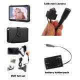 Câmera de CCTV ocultos sem fio de 5,8 gramas 16chs com receptor sem fio de 5 polegadas