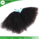 Выходцев из Монголии Kinky Fumi человеческого волоса в Sew! сотки земли для оплетки