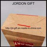 Take-out мешок Brown Kraft бумажный для еды любимчика, smog с подгонянными печатание и размером, MOQ 500