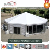 [ليري] [أكتوغنل] خيمة مع ماس سقف وزجاج [ولّينغ] نظامة لأنّ لون موسيقى [كنكرت]