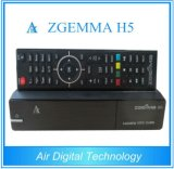 2016 Latest High CPU Zgemma H5 FTA HD TV Receptor Sat Dual Core Linux OS E2 Hevc / H. 265 DVB-S2 + Hybrid DVB-T2 / C Twin Tuners