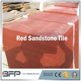 Le mattonelle di pavimento dell'arenaria rossa della natura con Polished/smerigliatrice la superficie