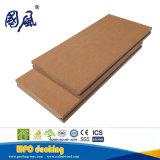 Panneau de plancher en plastique de Decking du composé WPC en bois solide