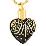 Halsband van de Houder van de As van de Urn van het Hart van Engravable van het Patroon van de douane de Mini