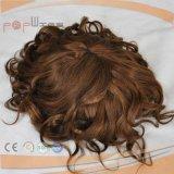 ブロンドの混合された暗い色の人間の毛髪のToupee (PPG-l-01363)