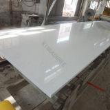 Matériau de construction en pierre de quartz artificiel blanc pour paillasse