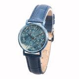 2018년 Newst Handmade 대리석 시계 백단향 여자 손목 시계