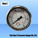 60mmの振動証拠の液体によって満たされる圧力計